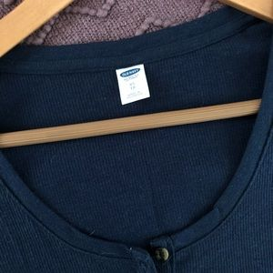 Old Navy Teal Ribbed Henley